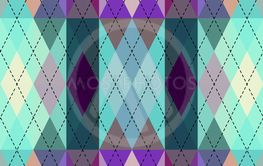 Argyle seamless vector pattern background. Pattern of a...