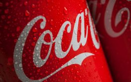 drops of water on Coca-cola can tue famous brand of...