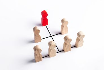 Hierarchical system of business and organization...