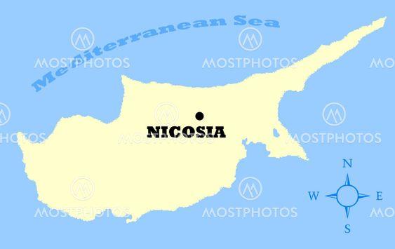 Karta Over Cypern Av Speedfighter17 Mostphotos