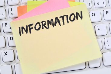 Information info message news announcement business note...