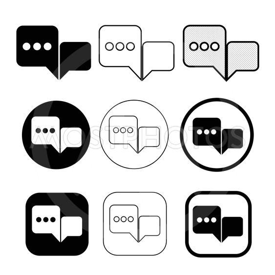 Simple Speech bubble icon sign design