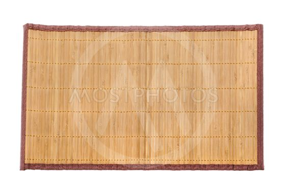 bamboo mat on white background