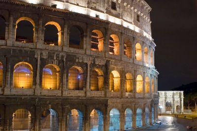 Italy Rome Coliseum closeup
