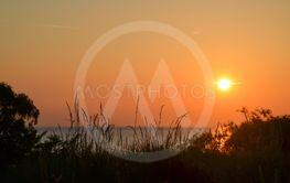 Solnedgång vid en strand på Gotland 10