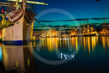 Tall Ships Races in harbour on July 26, 2014 in Bergen,...