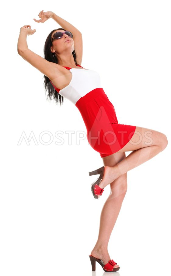 Happy surprised woman Isolated on
