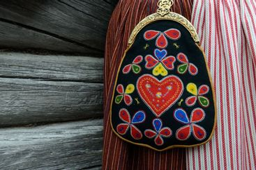 Traditional Swedish purse, Evertsberg, Dalarna, Sweden
