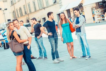 Friends Meeting in City Square