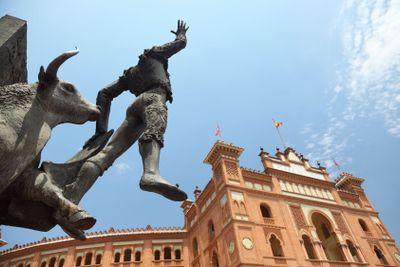Madrid landmark bullfighting ring