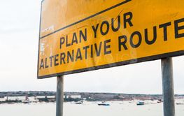 Plan your alternative route. Road sign