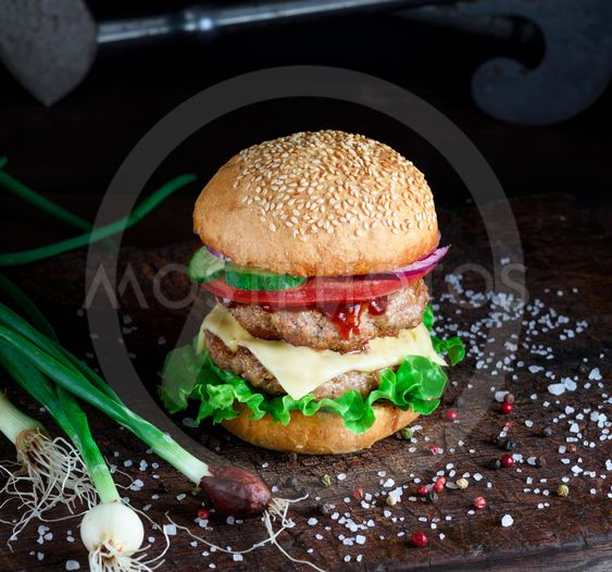 tomato and cheese quot fresh burger with quot by natalya danko mostphotos 11883