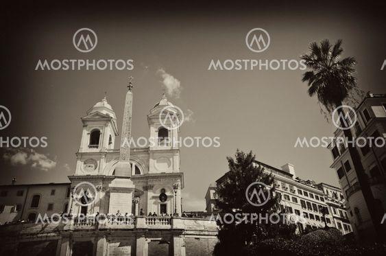Piazza di Spagna and Trinita' dei Monti in Rome