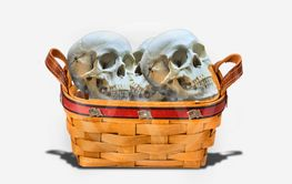 Basket full of Skulls.