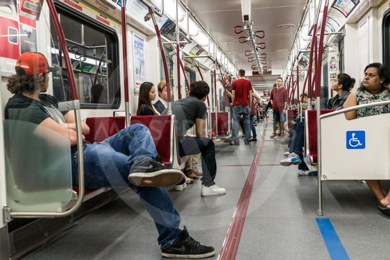 Interior of Toronto subway