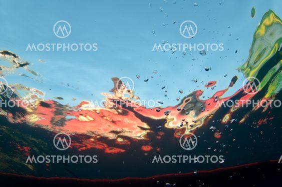 Abstrakti vedenalainen tausta