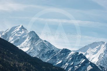 amazing landscape with beautiful snow-capped mountain...