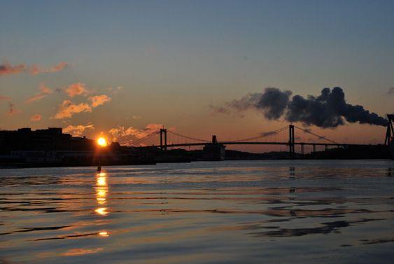 Gothenburg Harbor sunset