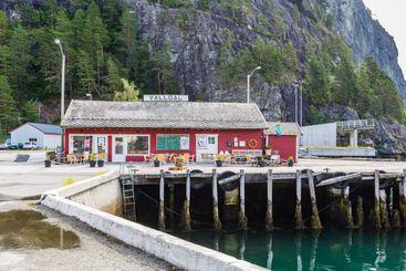 Harbour of valldal in Western Norway