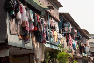 Hanging Cloths in Jakarta