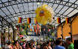 Beer tent decorated for Beerfest by former German...