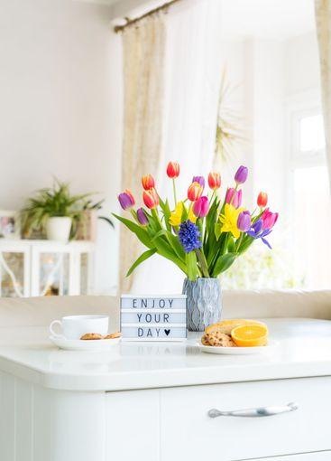 Good morning concept. Romantic breakfast - fresh...