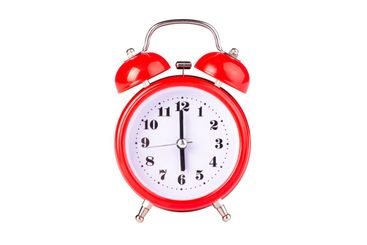 red alarm clock isolate