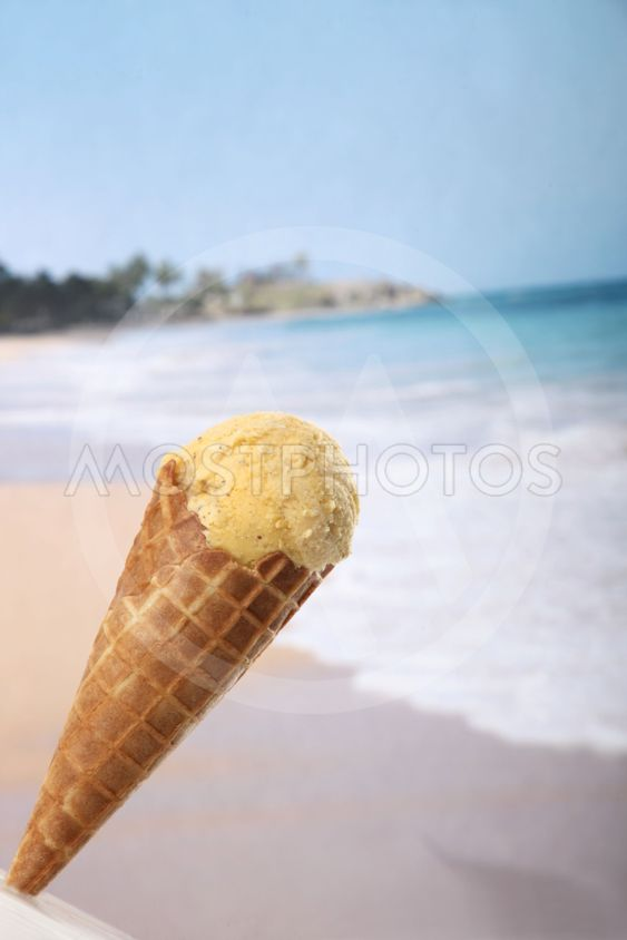 Ice cream with the back beach