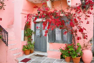 greece,cyclades,naxos : apiranthos village