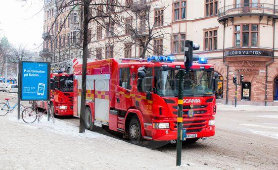 Brandbil på Östermalm