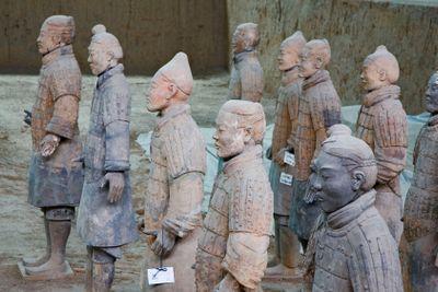 chine; xi'an : armée enterrée