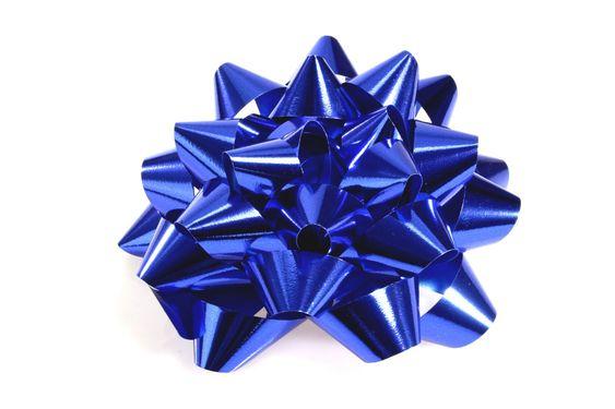 Sininen lahjan silmukan