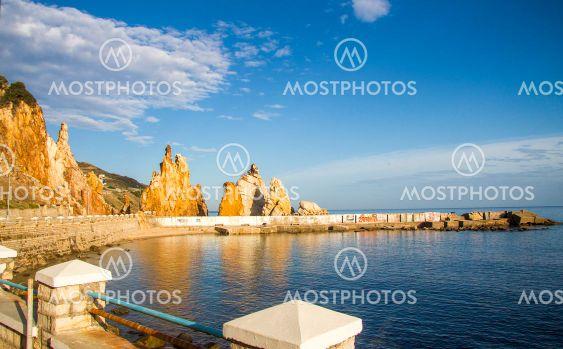 Rocks on the seashore of Tabarca, Tunisia