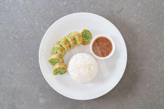 Acacia Pennata Omelette with Chili Paste
