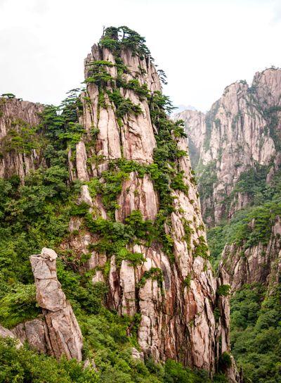 Huangshan mountain peak