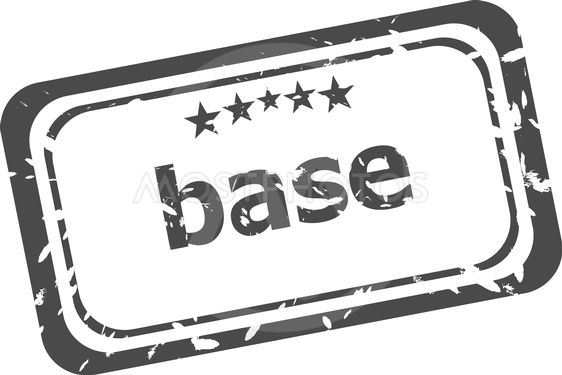 base on rubber stamp over a white background