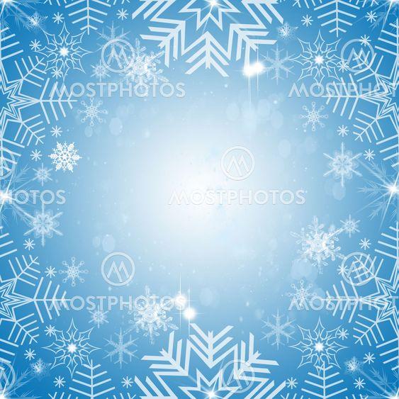 Abstrakta snöflingor bakgrund