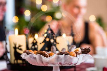 Cookies on Christmas coffee table