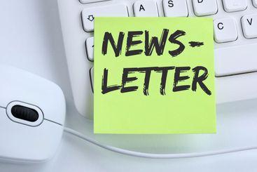 Newsletter subscribing internet business concept...