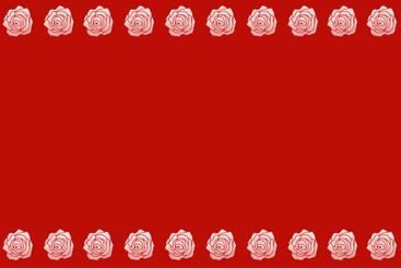 White roses on red background