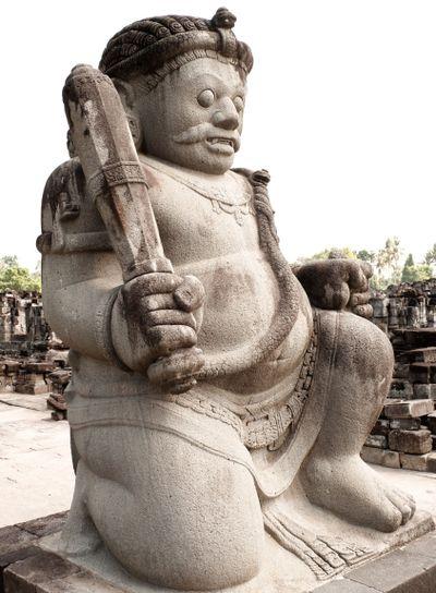 Guardian Hindu statue