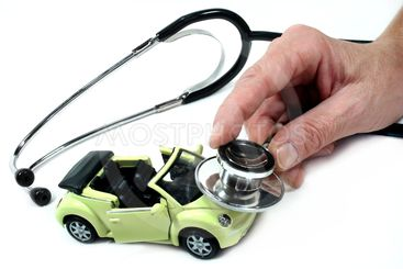 Stethoscope with car