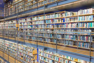 Library Technical University Delft in The Netherlands