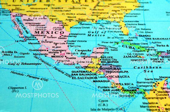 Fernando Barozza N Kuva Keski Amerikan Kartta Mostphotos