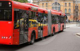 Public transportation articulated bus