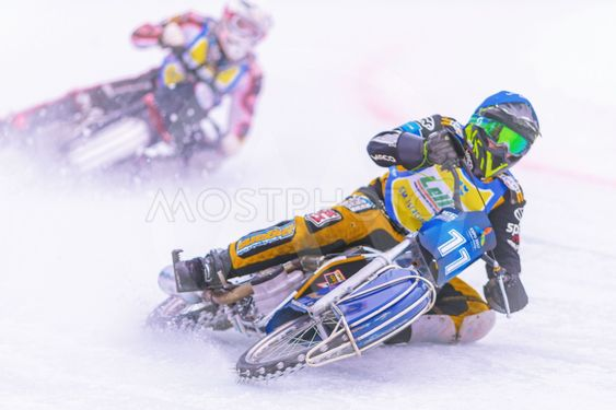 Iceracing Racers during the Swedish national...