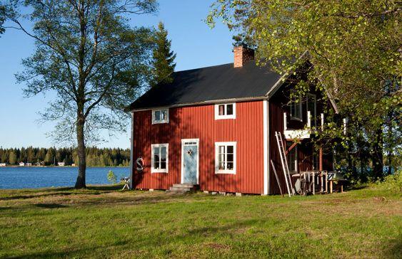 Nya Fint Falu rödfärg hus, stug...