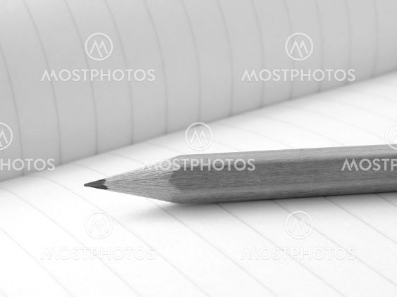 pencil and workbook