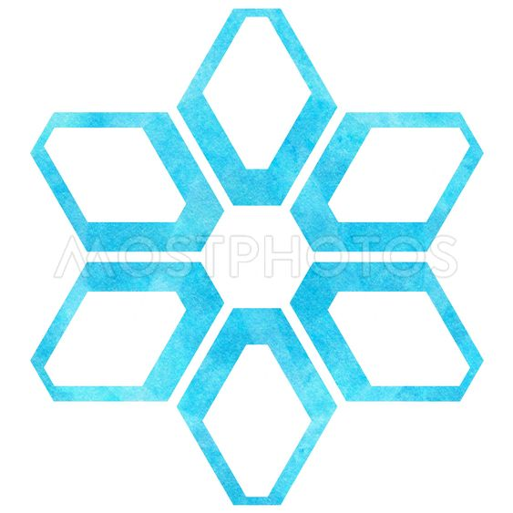 Cute snowflake  isolated on white background.