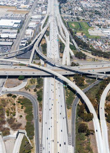 Century San Diego Freeway interchange intersection...